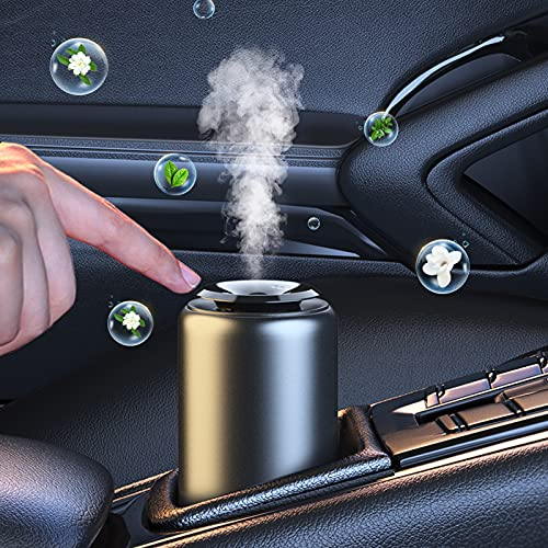 【Long Lasting Fragrant】 Trudin Car Air Fresheners, 【Absorb Smoke Smell】 Car Essential Oil Diffuser with 30ml Natural Essential Oils(Cologne),【Odor Eliminator】 for Car Home Office, Ideal Gift