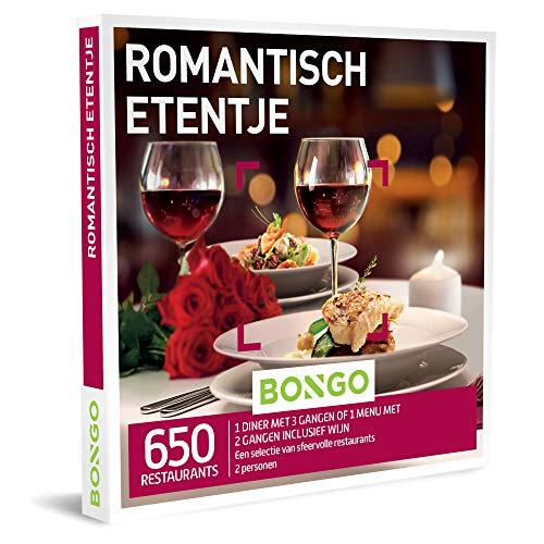 Bongo Bon - Romantisch Etentje | Cadeaubonnen Cadeaukaart cadeau voor man of vrouw | 650 sfeervolle restaurants