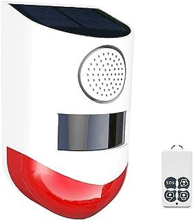 Solar Powered Wireless 433MHz Infrared Motion Sensor Detector Strobe Siren 120dB Alarm Waterproof PIR Sensor