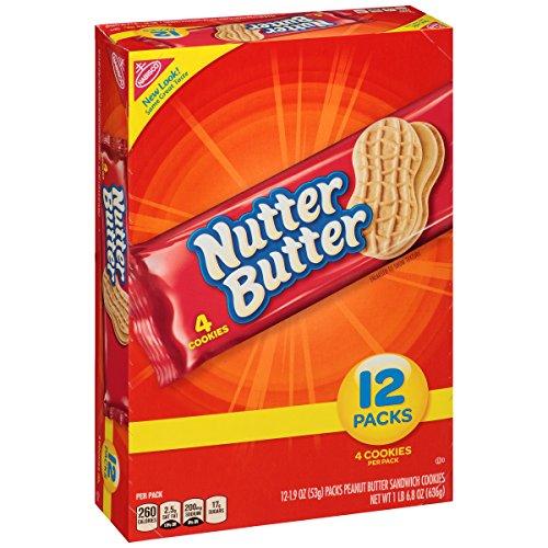 Nutter Butter Peanut Butter Sandwich Cookies - Snack Pack, 12 Count