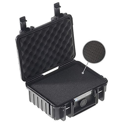 B&W Transportkoffer Outdoor Typ 500 schwarz mit Würfelschaum - wasserdicht nach IP67 Zertifizierung, staubdicht, bruchsicher und unverwüstlich