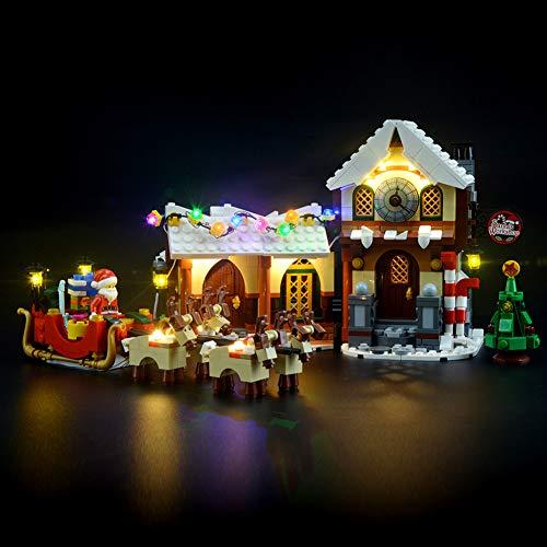 Kit di Illuminazione A LED per Lego La Bottega di Babbo Natale,Compatibile con Il Modello Lego 10245 Mattoncini da Costruzioni - Non Incluso nel Modello