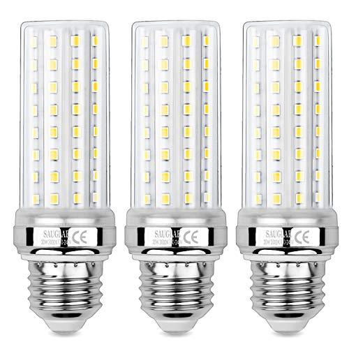 Sauglae 20W LED Mais Glühbirnen, 150W Glühlampen Äquivalent, 3000K Warmweiß, 2000Lm, E27 Edison Schraube Glühbirnen, 3 Stück