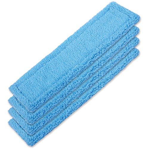 KEEPOW 4 Stück Mikrofaser-Wischbezug Kärcher Fensterreiniger Tuch Akku Fenstersauger WV 2 Premium (Plus), WV 5 Premium (Plus) Mikrofaser-Wischbezug Blau Outdoor, 2.633-130.0