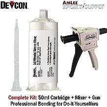 Devcon 10-Minute Epoxy (14251) - Chemical Resistant Epoxy Adhesive - 50ml/1.7oz Mixing Gun Kit