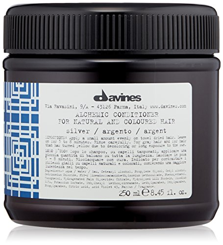 Davines Alchemic Conditioner, Silver, 8.45 Fl Oz