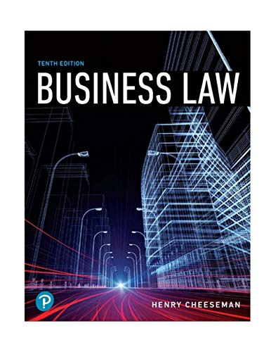 Compare Textbook Prices for Business Law What's New in Business Law 10 Edition ISBN 9780134728780 by Cheeseman, Henry