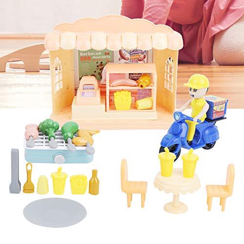 Liujaos Giocattolo del Negozio di Hamburger, Giocattolo di finzione Non tossico per i Bambini(Ristorante Barbecue Nazionale)