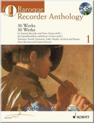 Baroque Recorder Anthology 1–Partituras para Flauta Dulce (Soprano
