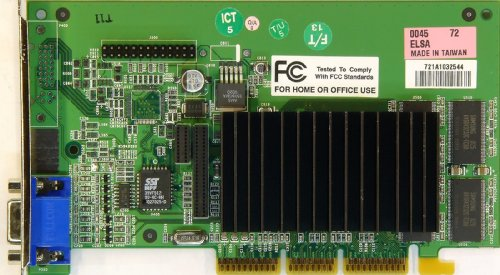 Elsa Gladiac MX GeForce2 32MB AGP Graphics Card VGA PC Grafikkarte Vintage/Retro (Zertifiziert und Generalüberholt)