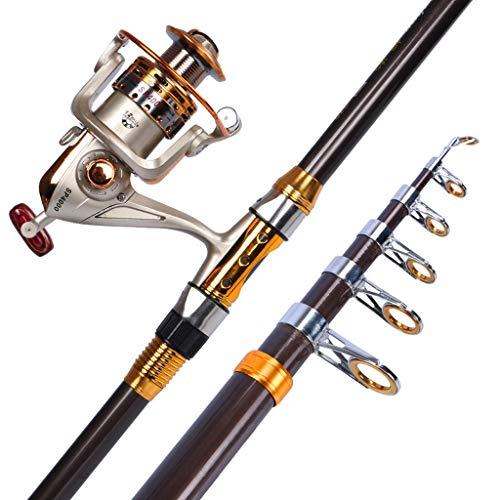 NYKK Angelrute Angel Sea Rod Set Sea Rod-Rod-Angelrute Sea Fishing Rod Super Hard Long Shot Rod Angeln Seerod mit Metall Angelrolle Wurf Reise Angelrute (Size : 2.1meters)