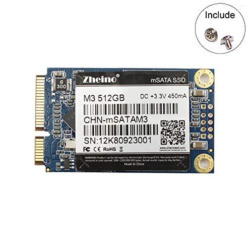 Zheino mSATA SSD 512GB M3 Mini SATA SSD 3D Nand Flash Internal Solid State Drive for Mini PC Notebooks Tablets