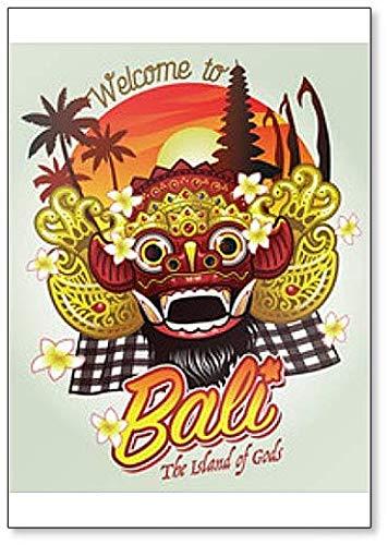 """Imán para nevera, diseño con texto en inglés""""Welcome to Bali"""""""