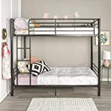 Home Accent Furnishings Sunrise Metal Twin-Over-Twin Bunk Bed in Black