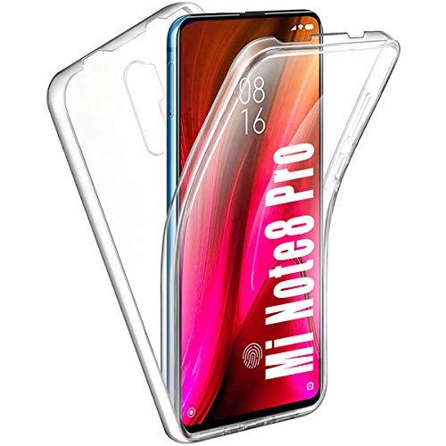 HülleNN Kompatibel mit Xiaomi Redmi Note 8 Pro Hülle 360 Grad Handyhülle Silikon PC Crystal Clear Full Body Schutz Slim Cover Transparent mit Bildschirmschutz Vorne & Hinten Schutzhülle Durchsichtige