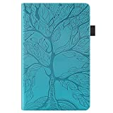 Jajacase Funda Folio Samsung Galaxy Tab A 10.1 2016 SM-T580/T585-Slim Carcasa Cuero PU Silicona y Multiángulo y Soporte Case Cover Protector-Azul Claro