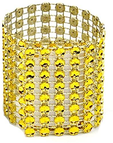 KANULAN Anelli portatovagliolo Supporto per Fiocchi di Strass Decorazione per Eventi di Nozze Artigianato Portatovaglioli Forniture per Feste Fatte a Mano Tabella Decorazioni (Color:Gold)