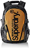 Superdry - Meshtarpbackpack, Mochilas Hombre, Multicolor (Black/Orange), 34x45x14 cm (W x H L)