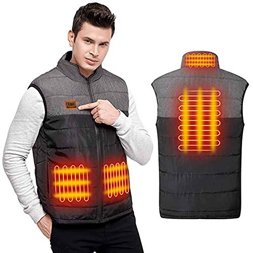 Heated Jacket for Men Women, Vest Adjustable Electric Warm Clothing for Hiking Riding Skiing Outdoor by Vanankni