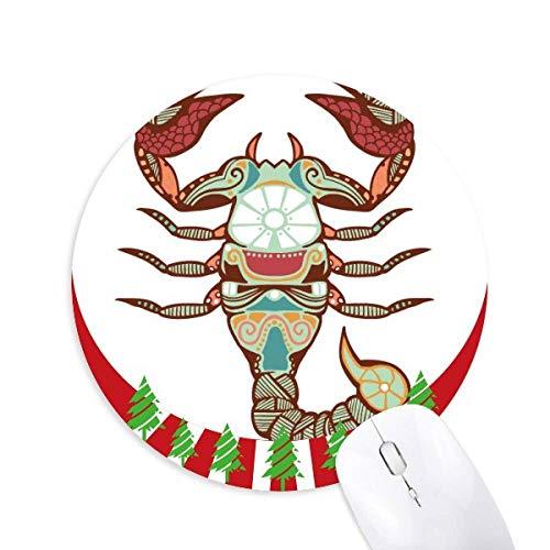 Sternbild Skorpion Sternzeichen Rundgummi Maus Pad Weihnachtsdekoration