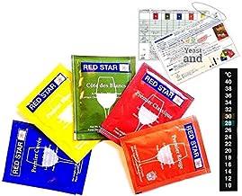 Red Star ワインイースト 全5種類パック 各5g (日本語説明書付き)