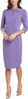 فستان نسائي ضيق من الكريب معقود من دونا مورغان