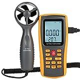 LJJOO Misure Digital anemometro anemometro Manuale velocità del Vento, Vento di Flusso, Temp del Vento for HVAC Air Flow Velocity Metri con USB