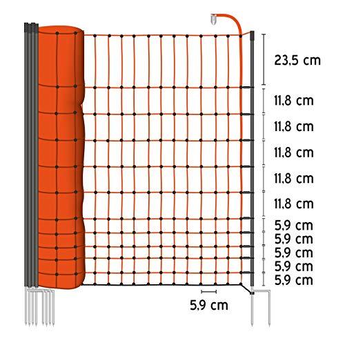 50m Geflügelnetz von VOSS.farming, Euronetz, 112cm, 2 Spitzen Geflügelzaun Hühnerzaun Gänsezaun - 2