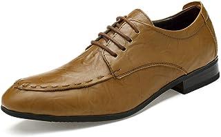 [WEWIN] ビジネスシューズ メンズ 本革 革靴 大きいサイズ ウォーキング レースアップ 靴 カジュアル ドレスシューズ 防滑 通気 柔らかい