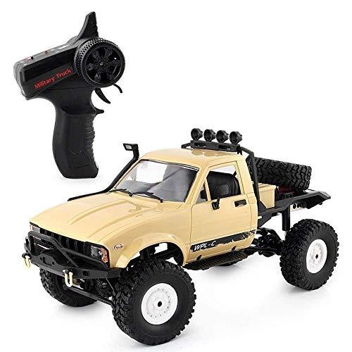 Coches de Control Remoto Yellow Monster Truck 4WD Drifting Climbing High Speed Racing Rock Crawlers Radio de 2,4 GHz Vehículo Todoterreno Buggy Truck Juguete Educativo para niños Regalo de cumpleañ