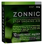 ZONNIC Nicotine Gum 4mg Mint -10 Count - Quit Smoking Aids, Sugar Free...