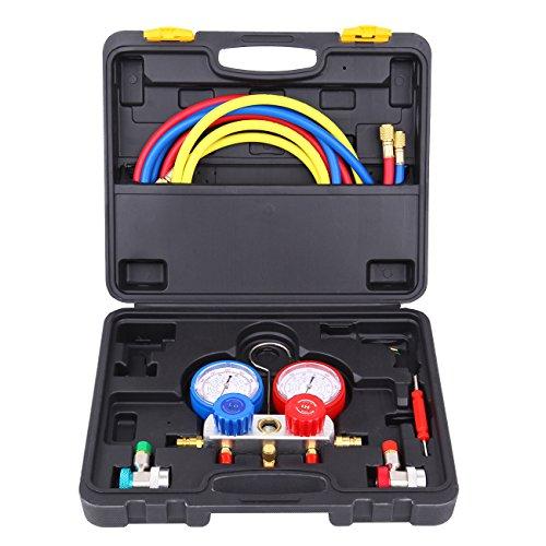 Honhill A/C Kit de refrigeración R134a R22 R410a R404a de AC Colector de Manometro Aire Acondicionado