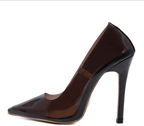 GHFJDO Ladies femmes Clear Pointed Pompes, été Nouvelles Sandales Transparentes, Chaussures de soirée de Mariage Cone talons hauts