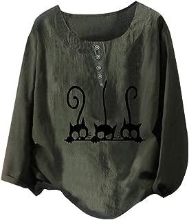 CIELLTE St.Patricks Day Femmes Tee T-Shirt Imprime /à Manches Courtes O-Neck Tunique Blouse Femme Tops Grande Taille Vert, 2XL
