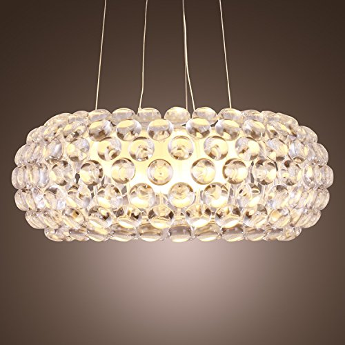 Moderner Kronleuchter regensicher hängender Kronleuchter beleuchtete Kristallkugel Kronleuchter moderne Foscarini Design Birne mit 1 Lampe Deckenlampe für Esszimmer Wohnzimmer