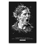 Sport-Fan-Poster Fernando Torres Zitat Kunst Wand Zimmer