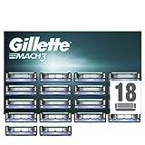 Gillette Mach3 Rasierklingen mit verbesserten Feuchtigkeitsstreifen, 18 Ersatzklingen