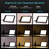 Decdeal Happy Light Ultra Bright LED Light Box Tracer Therapy Energy Lamp with Bracket 3000-6500K Color Temperature 10 Level Adjustable Brightness/Stepless Dimming Simulating Natural Daylight