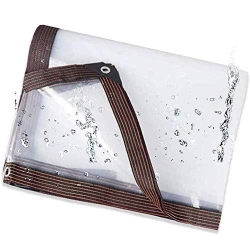 QIAOH Lona Impermeable Transparente 3x9m, Lona De Proteccion Transparente, Impermeable a Prueba De Viento, Resistente Al Polvo, Muebles De Jardín Sofá,Mesa,Silla