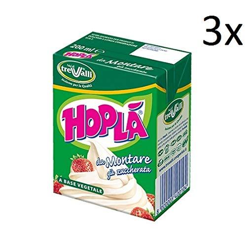 3x Hoplà Panna da montare glutenfrei Schlagsahne Sahne zum Nachtisch 200ml