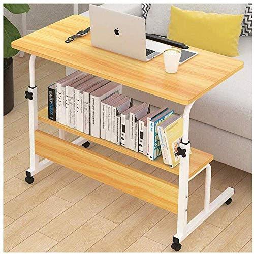 HIGHKAS Workstation Desk Faltbarer Computertisch Verstellbarer tragbarer Laptop-Schreibtisch Drehbarer Laptop-Betttisch Kann angehoben Werden Stehpult (Farbe: Walnuss)