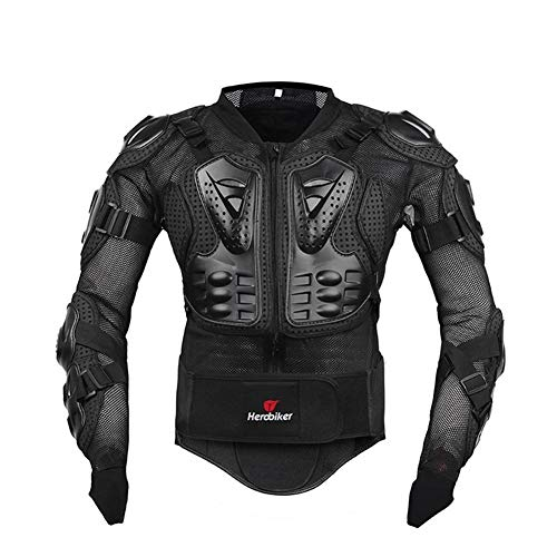 H HILABEE Motorcycle Back Armor Protector Insert for Riding Biker Jackets Black
