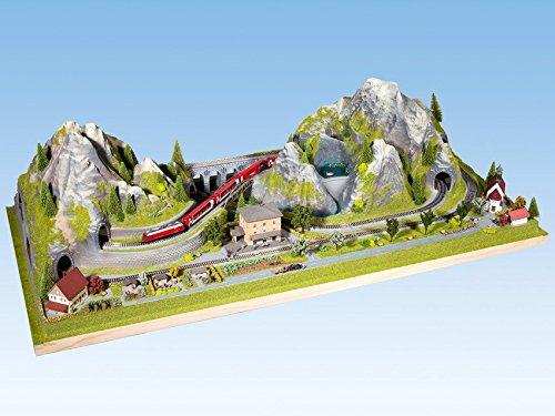 NOCH 83860 - Fertiggelände Bergün, N, 125 x 60 x 34 cm, bunt
