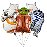 5pcs Star Wars balloons for Kids Birthday Baby Shower Baby Yoda Theme Party Decorations
