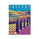 Vintage Hd Print Art Painting Italien Rom Capri Toskana