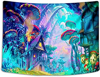 Tapestry Wall Cloth Fabric Hanging Bohemian For Bedroom Dorm Apartment Decoration Live Background Psychedelic Trippy Colorful Trippy Surreal Abstract Astral Digital Hemp Art 153x127cm(60x50inch)(002)