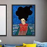 ganlanshu Pintura sin Marco Carácter nórdico Pintura de Personajes Modernos sobre Lienzo Arte Cartel Abstracto Chica Sala de Estar Dormitorio artZGQ2225 60X80cm