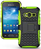 NAKEDCELLPHONE NEON Lime Green Grenade Grip Skin Hard CASE Cover Stand for Samsung Galaxy ACE-4 (Lite G313 G313H)