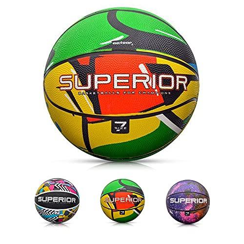Balón Baloncesto Pelota Basketball Bebe Ball Infantil Niño Adultos Jóvenes Balon Basquet - Baloncesto Ideal para los niños y jouvenes y Adultos para Entrenar y Jugar - Tamaño 7 (7, Superior Graffiti)