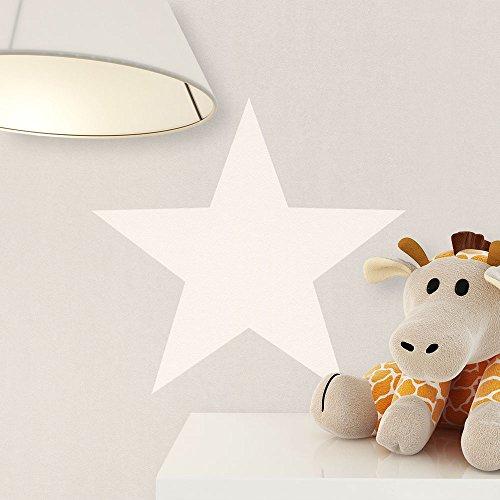 NEWROOM Kindertapete Grau Papiertapete Creme Kinder Sterne schöne moderne und edle Optik für Babys, Jungs oder Mädchen, inklusive Tapezier Ratgeber Kindertapete Grau Sterne Kinder